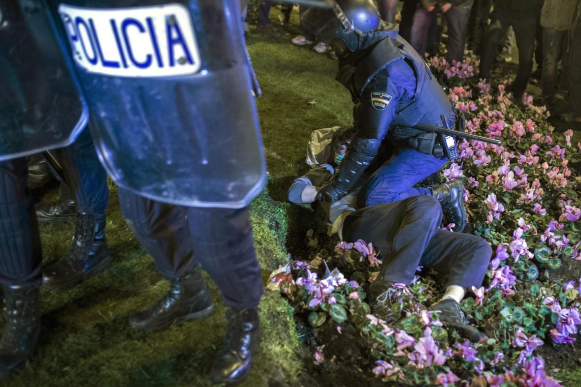 Protivládní protesty v Madridu
