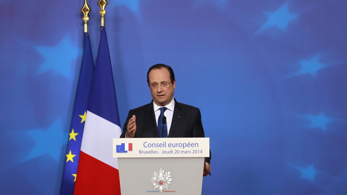 Francois Hollande na summitu EU