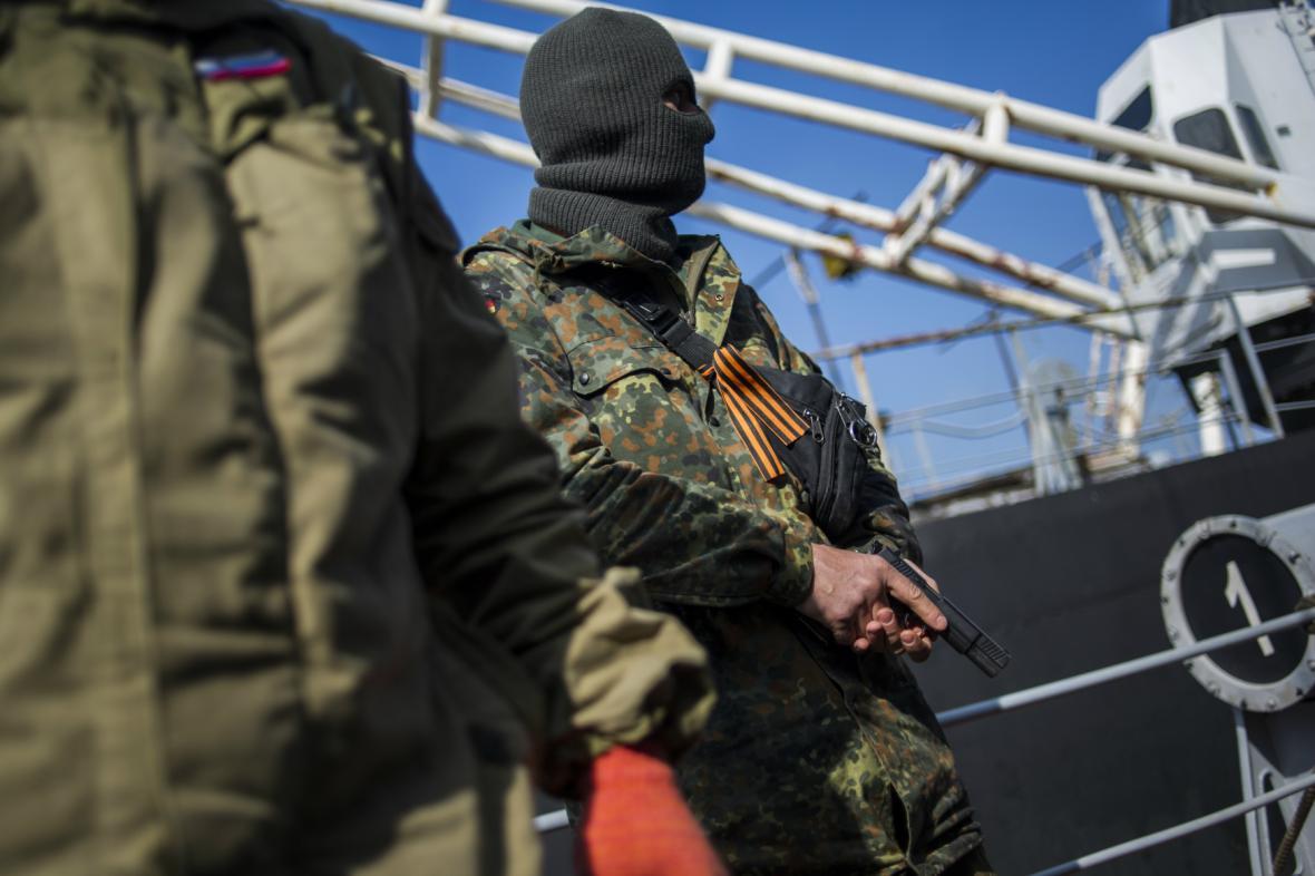 Ruští ozbrojenci obsadili korvetu Chmelnickyj
