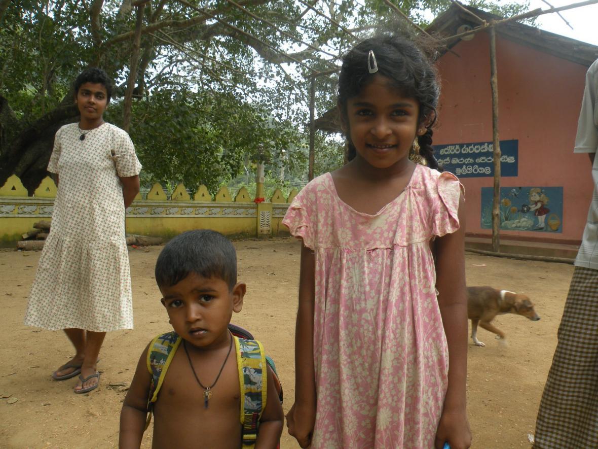 Děti ze Srí Lanky
