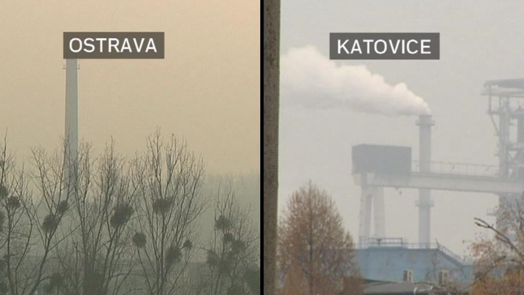 Ovzduší v Ostravě a Katovicích