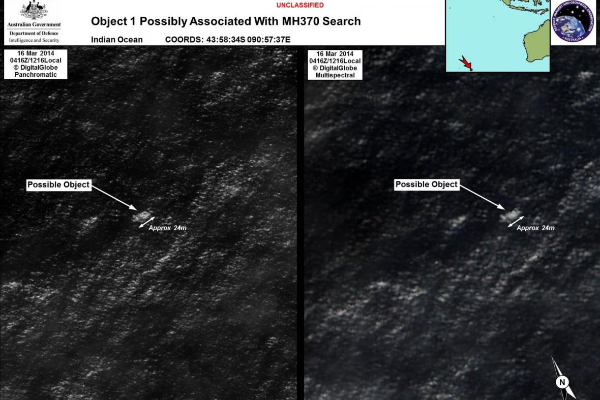 Radary ukazují místo nálezu možných trosek letadla