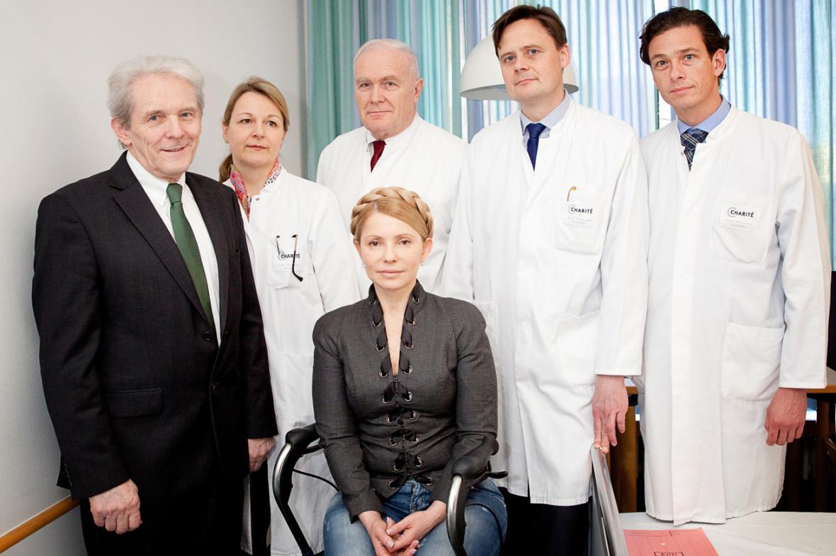 Julija Tymošenková s německými lékaři