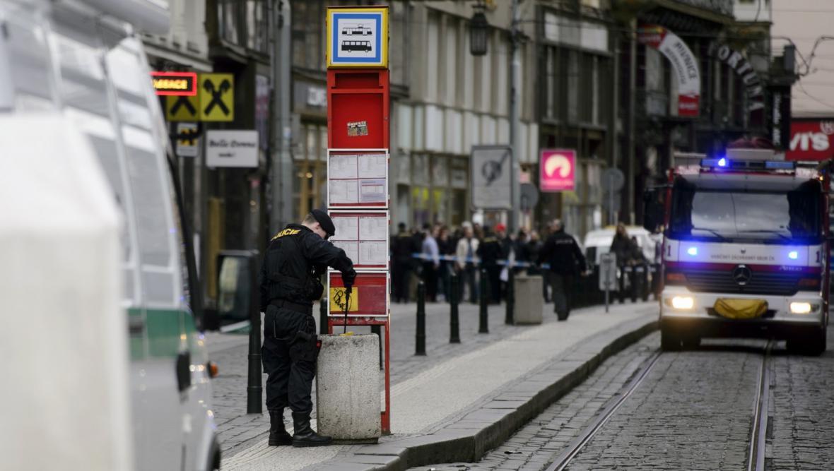 Přepadení pobočky ČSOB v centru Prahy