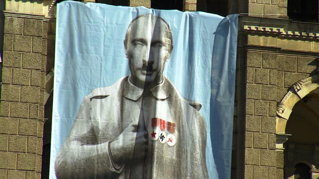 Vyobrazení Vladimira Putina na liberecké radnici