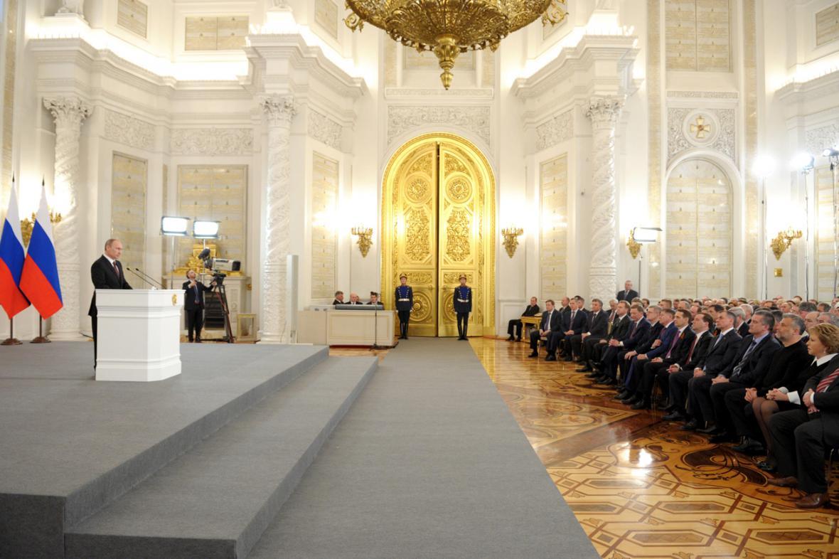 Projev Vladimira Putina v Georgijevském sále
