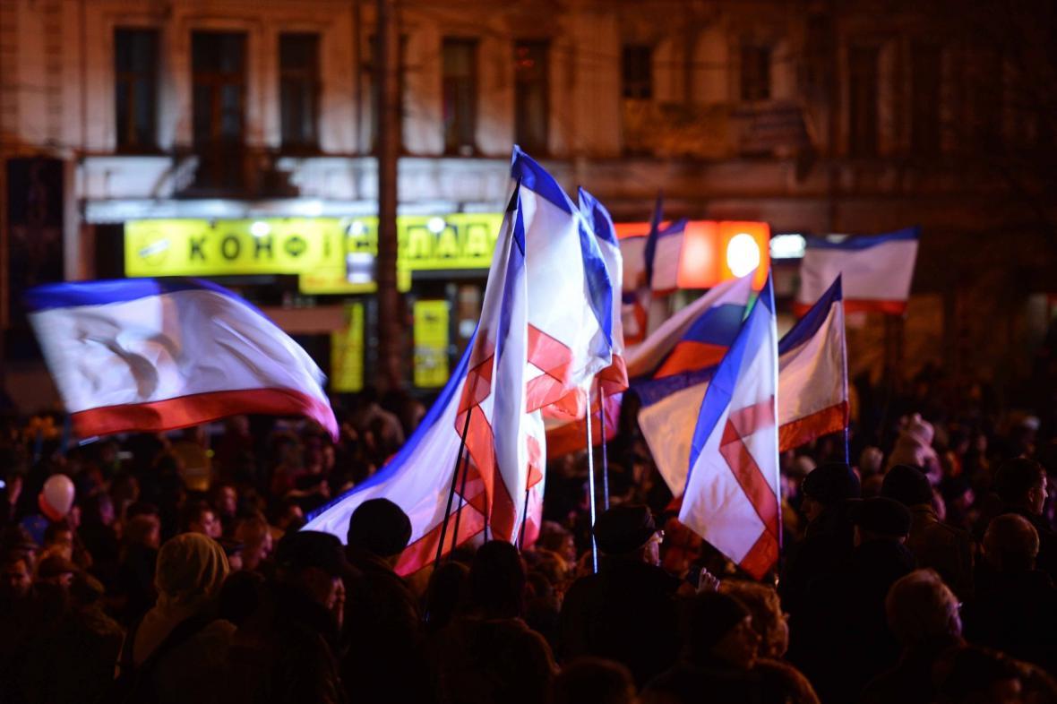 Oslavy výsledků referenda na Krymu