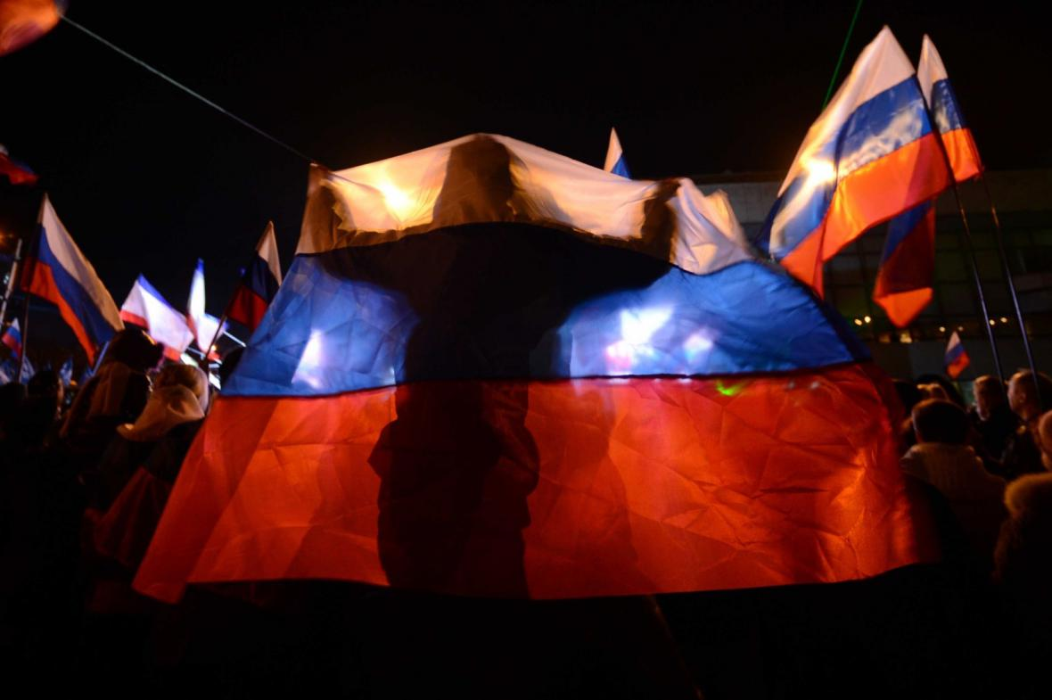 Oslavy referenda v Simferopolu