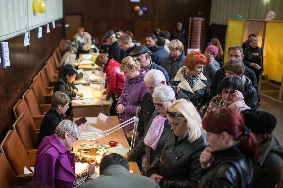 O referendum je na Krymu velký zájem