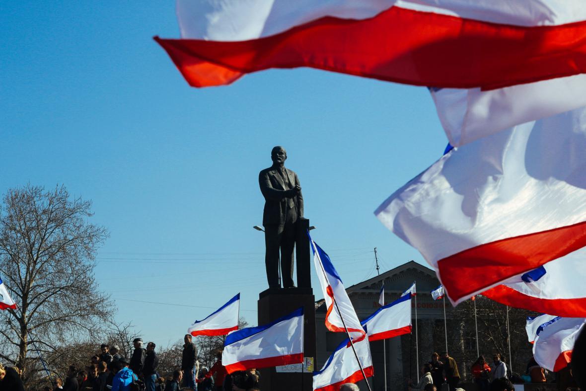 Leninovo náměstí v Simferopolu