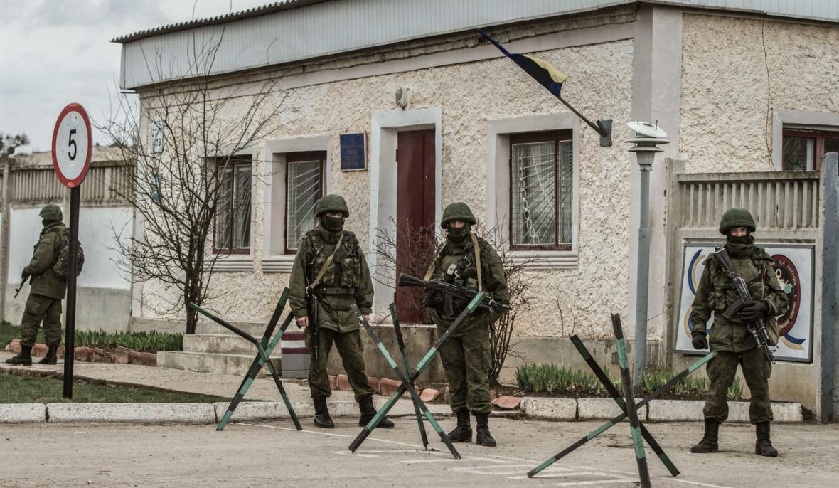 Proruští ozbrojenci na Krymu