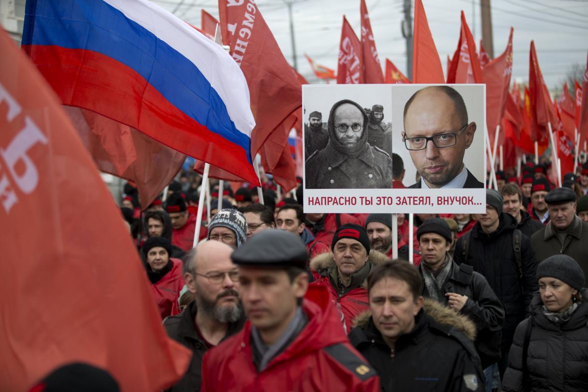 Pochod na podporu odtržení Krymu od Ukrajiny