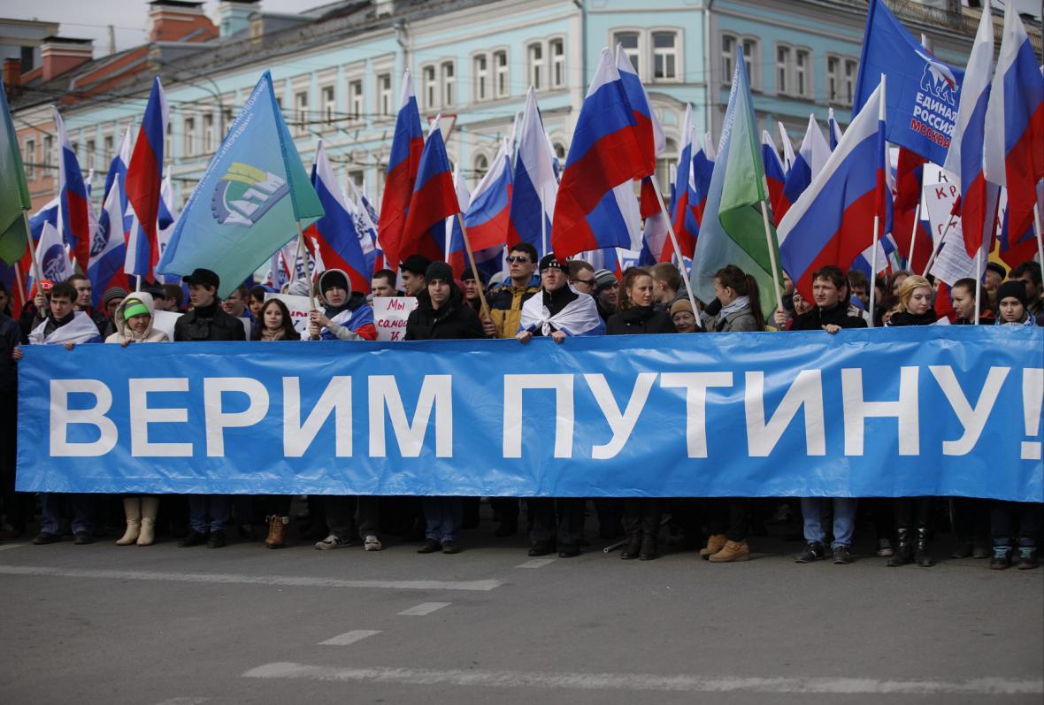V Moskvě se sešli i zastánci Putina