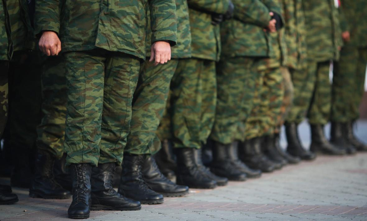 Příslušníci krymské domobrany