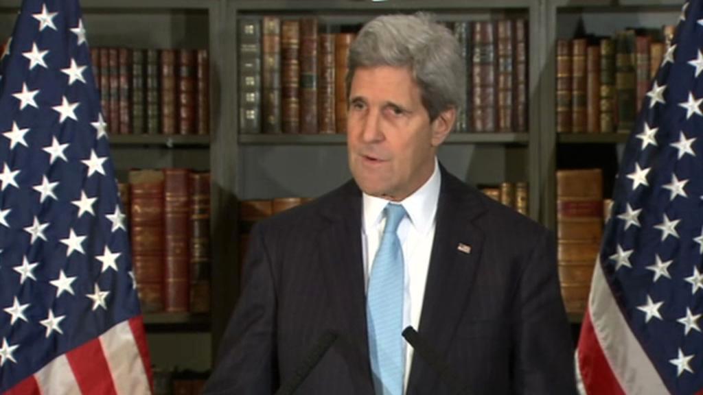 John Kerry na brífinku po jednání se Sergejem Lavrovem