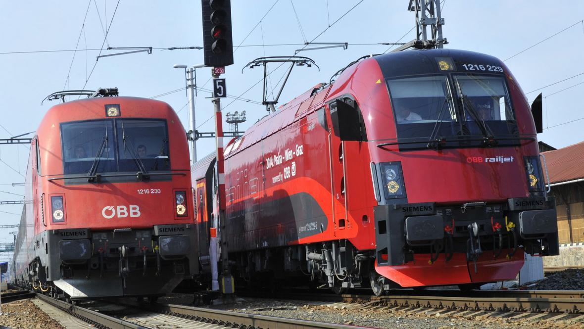 Vlak EC a Railjet