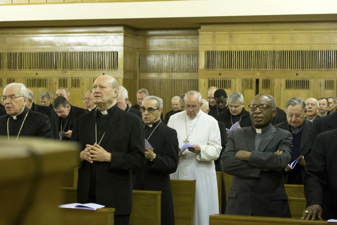 František odjel spolu s dalšími kněžími do Ariccia nedaleko Říma