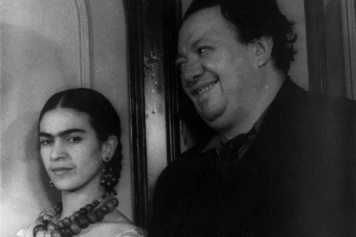 Frida Kahlo a Diego Rivera