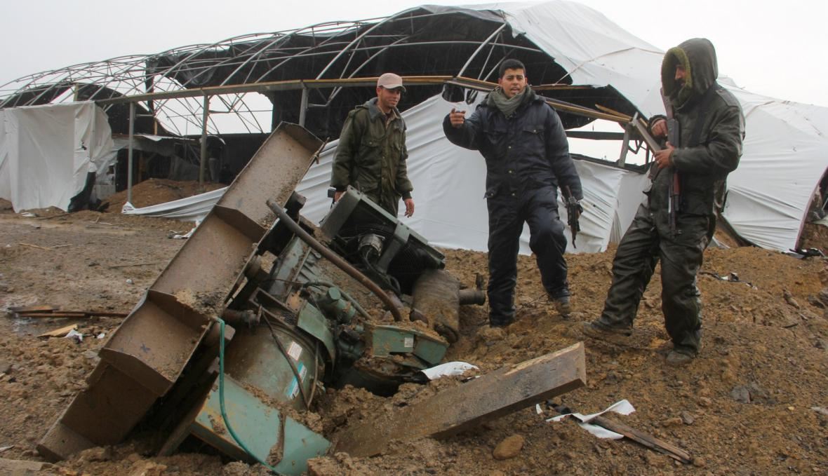 Útok izraelského letectva na pašerácké tunely v Gaze