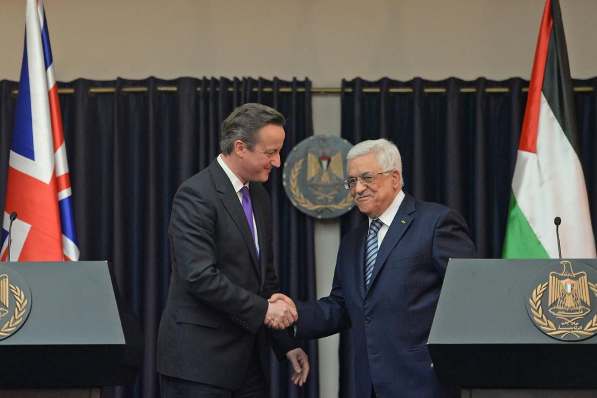 David Cameron a Mahmúd Abbás