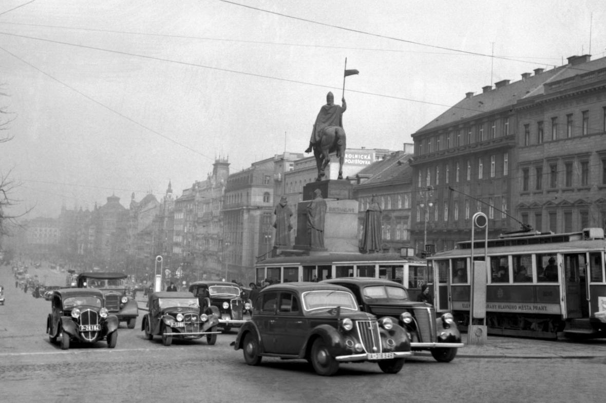 Doprava na Václavském náměstí po zavedení změny směru jízdy