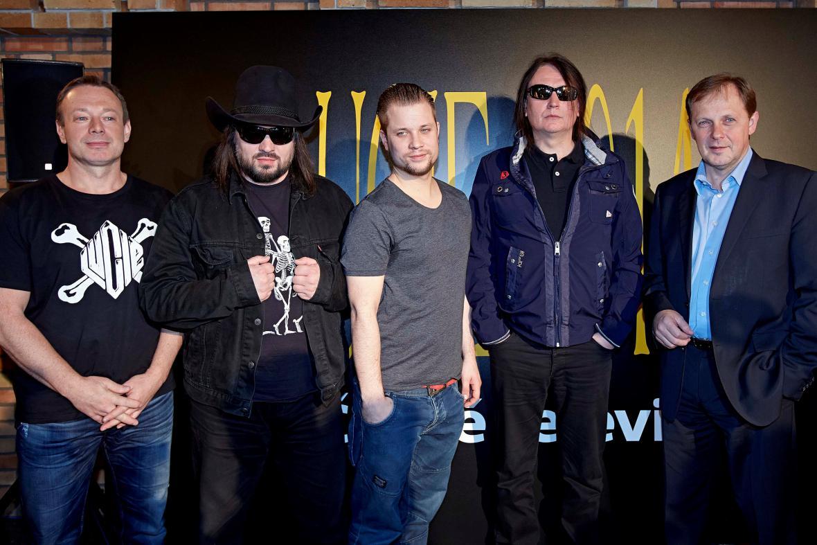 Lucie (zleva): Michal Dvořák, Robert Kodym, Adam Koller, Petr Dvořák