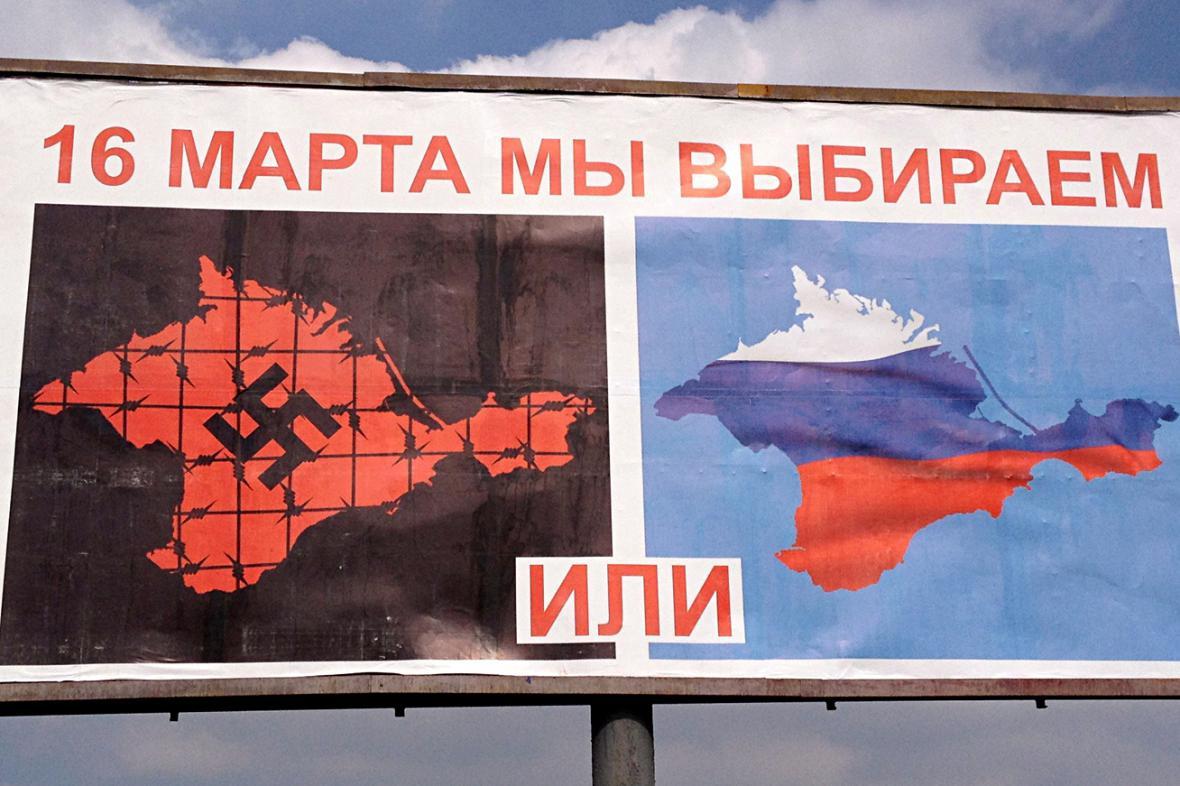 Ruská propaganda před referendem na Krymu