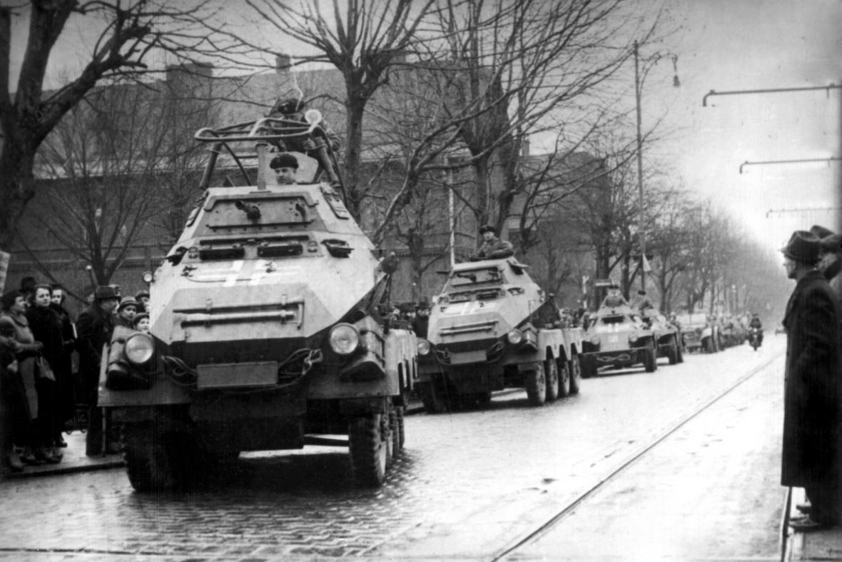 Německá okupační vojska v Ostravě