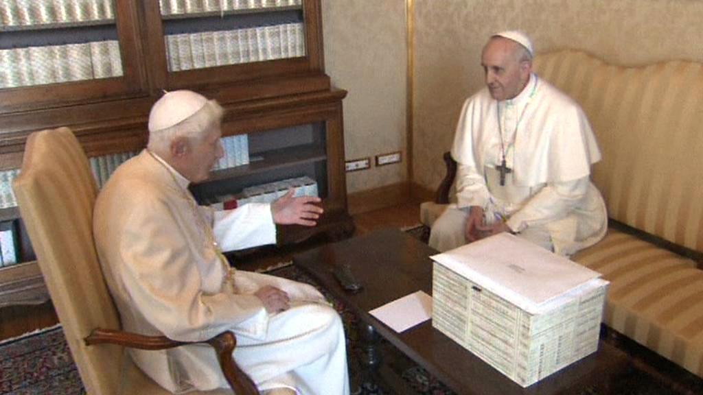 Setkání Františka a Benedikta