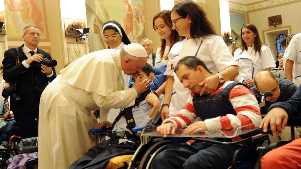 Papež František v Assisi