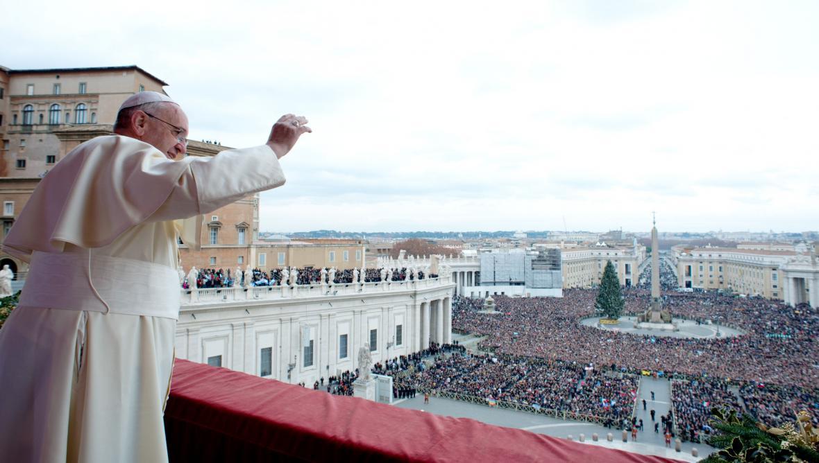 Papež František při poselství Urbi et Orbi