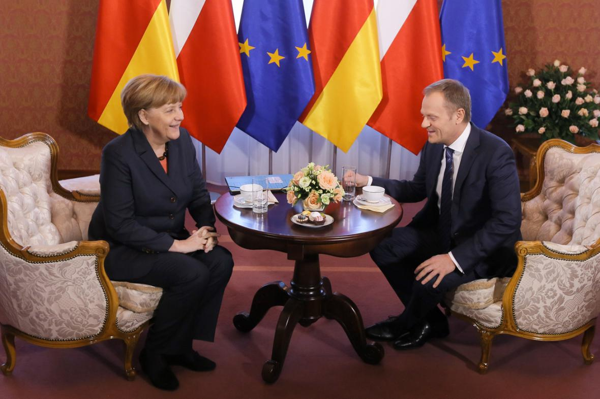 Angela Merkelová a Donald Tusk