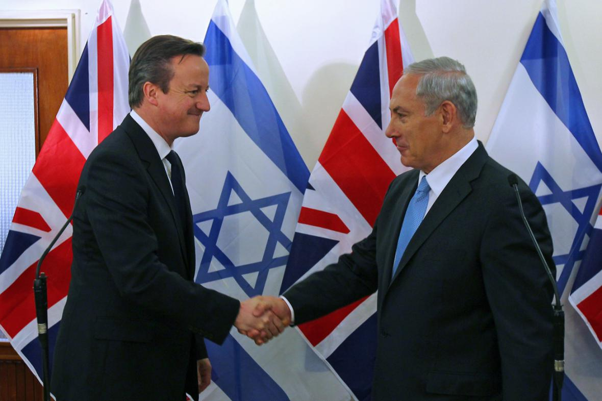 David Cameron a Benjamin Netanjahu