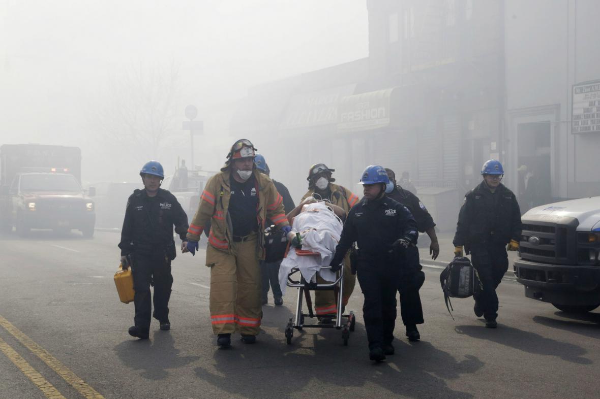 Zásah záchranářů v newyorském Harlemu