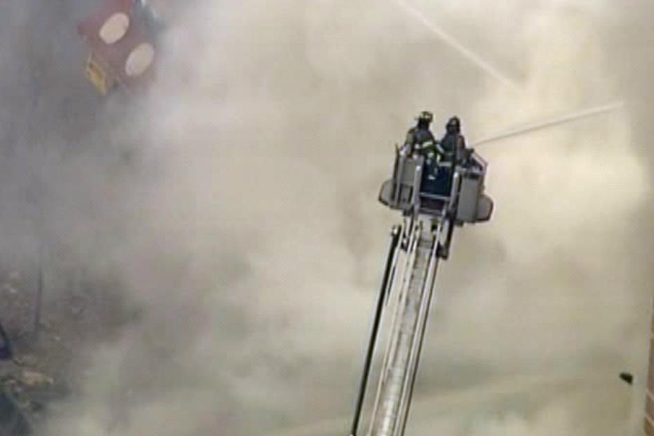 Zásah hasičů v newyorském Harlemu
