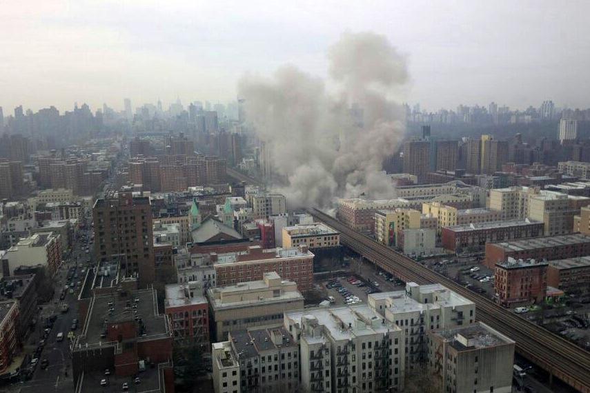 Zřícení domu ve východním Harlemu
