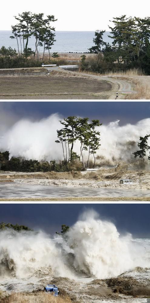 Úder tsunami v Japonsku