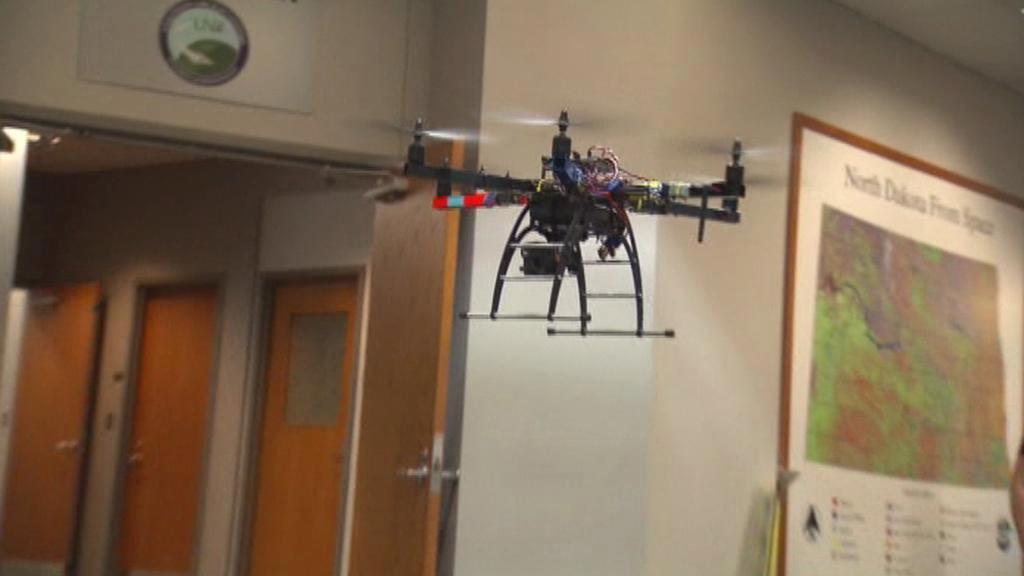 Drony jsou na vysoké škole v Grand Folks studijním oborem