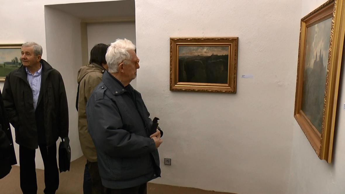Vernisáž výstavy malíře Václava Jansy
