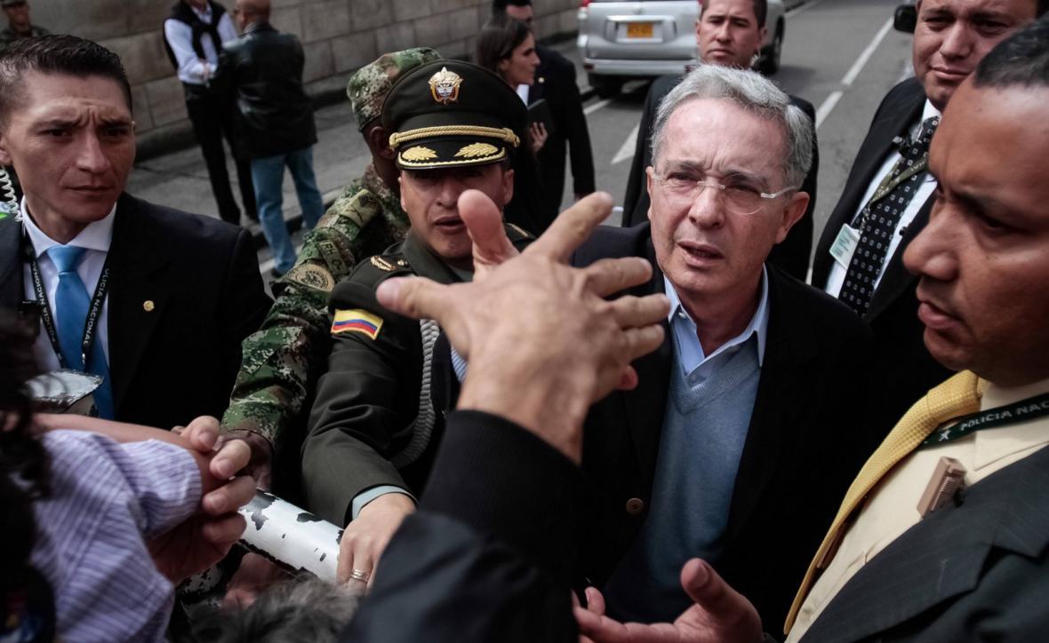 Kolumbijský exprezident Álvaro Uribe