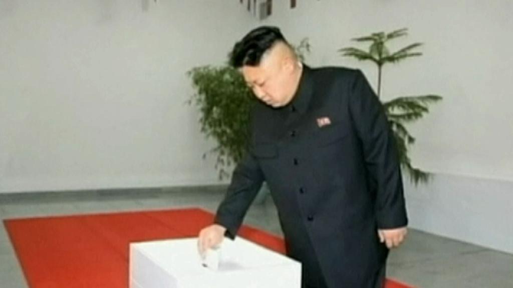 Severokorejský vůdce Kim Čong-un u voleb