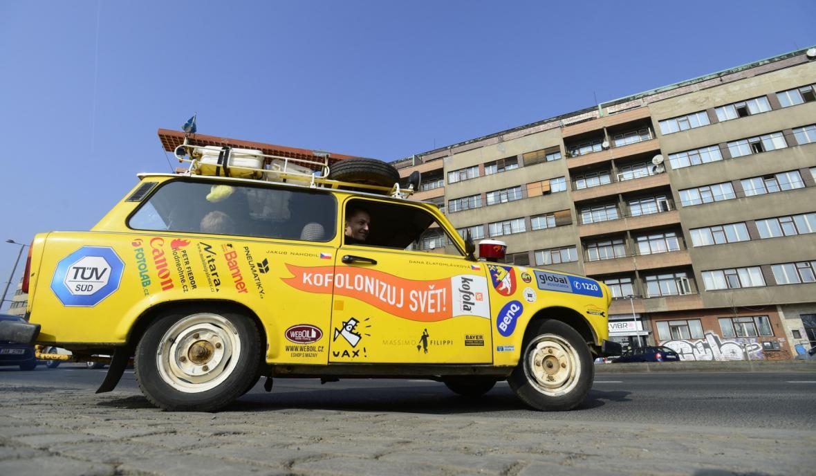 Trabant, kterým protagonisté filmu projeli ze severu na jih Jižní Amerikou
