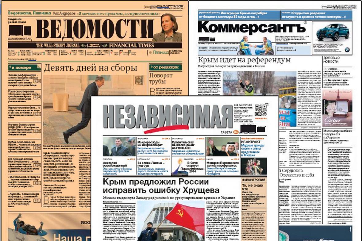 Ruský tisk varuje před negativními dopady anexe Krymu