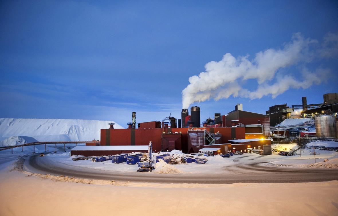 Průmyslový areál v Kiruně