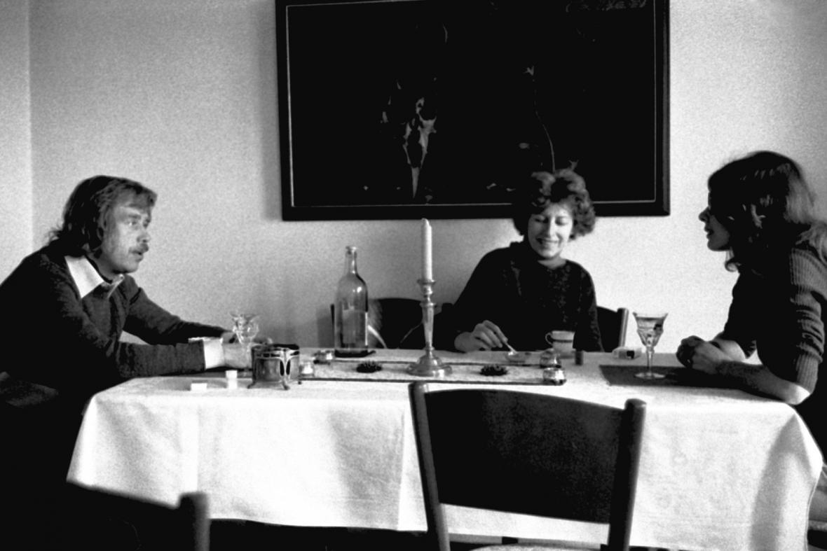 Václav Havel, Olga Havlová a Dana Němcová