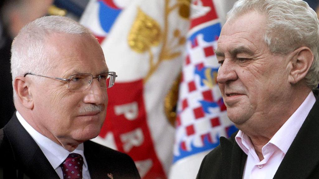 Václav Klaus a Miloš Zeman