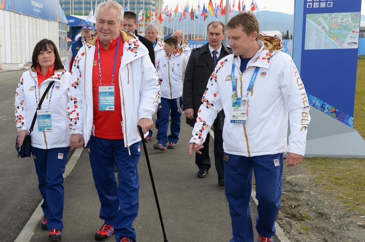 Zeman na olympiádě v Soči