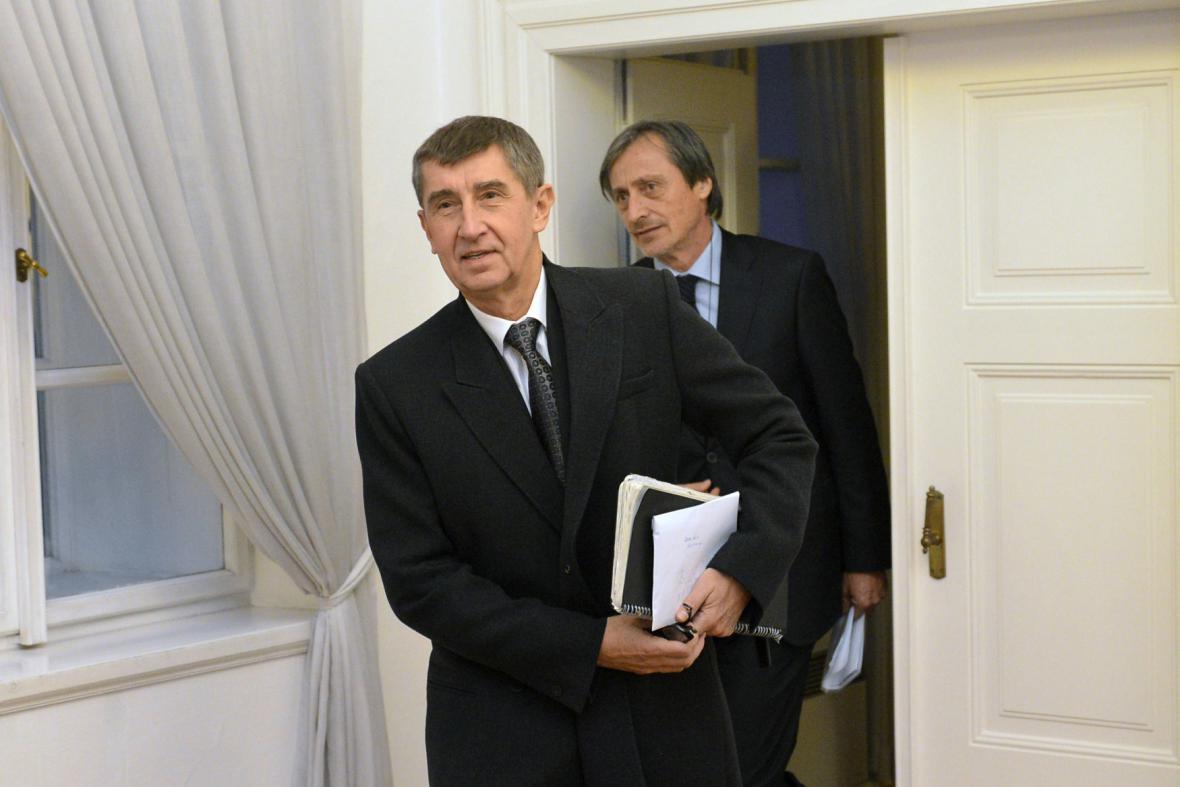 Andrej Babiš a Martin Stropnický (ANO)