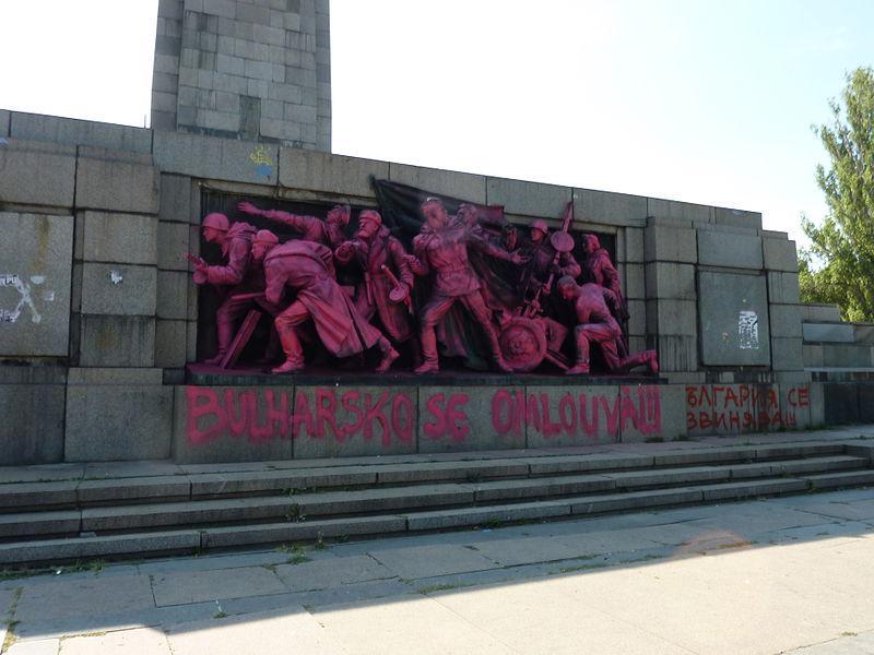 Památník Rudé armády v Sofii v srpnu 2013