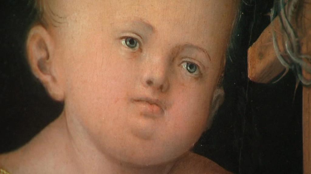Lucas Cranach / Žehnající Jezulátko (detail)